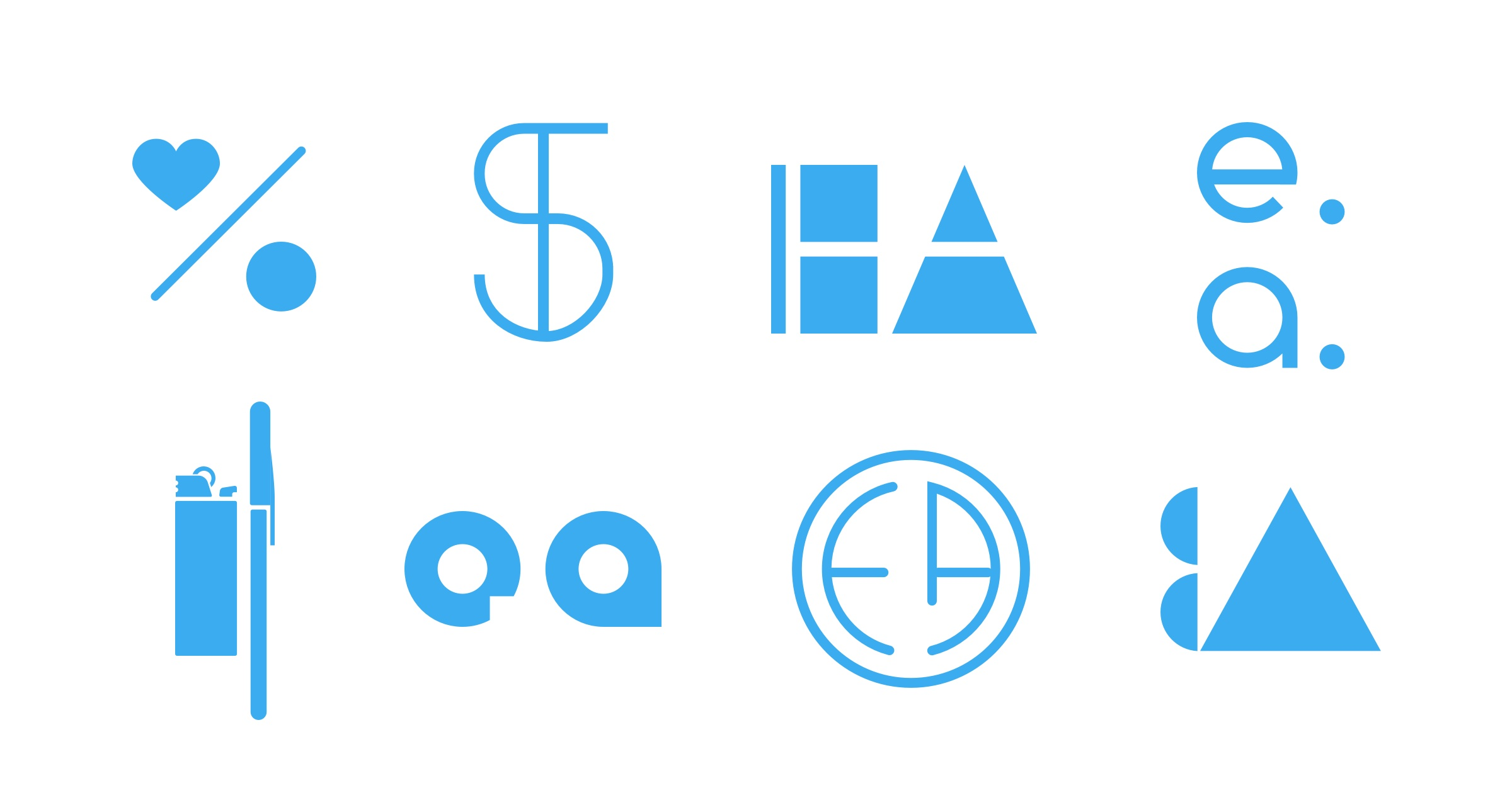 Logo drafts for the Effective Altruism Foundation